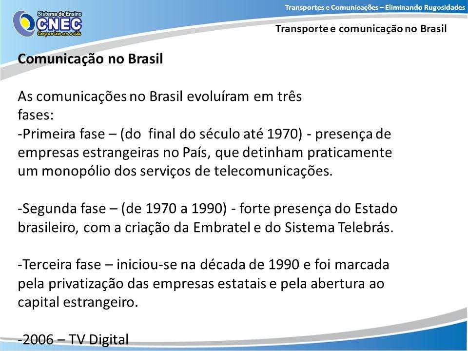 As comunicações no Brasil evoluíram em três fases: