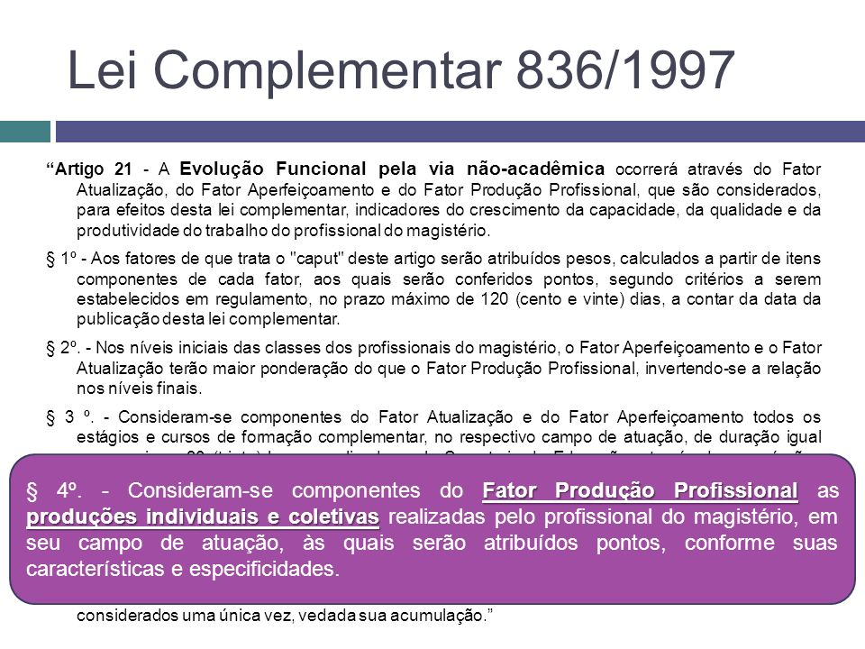 Lei Complementar 836/1997