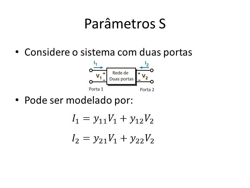 Parâmetros S Considere o sistema com duas portas