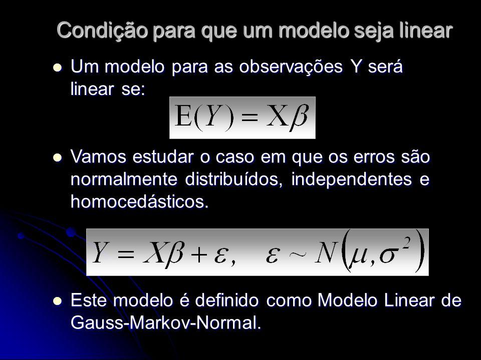 Condição para que um modelo seja linear