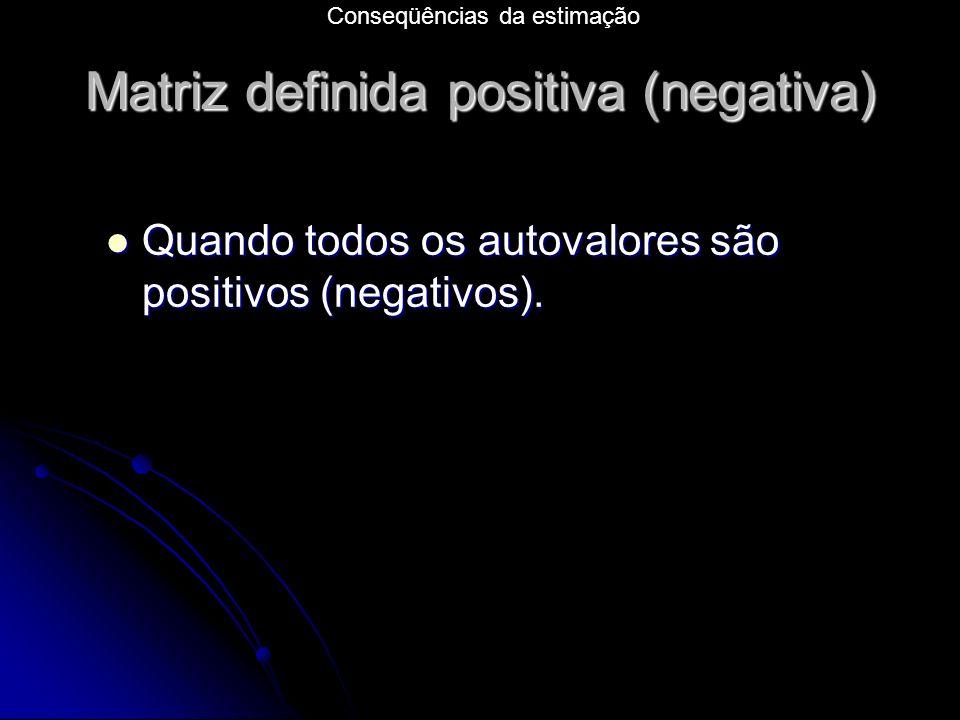 Matriz definida positiva (negativa)