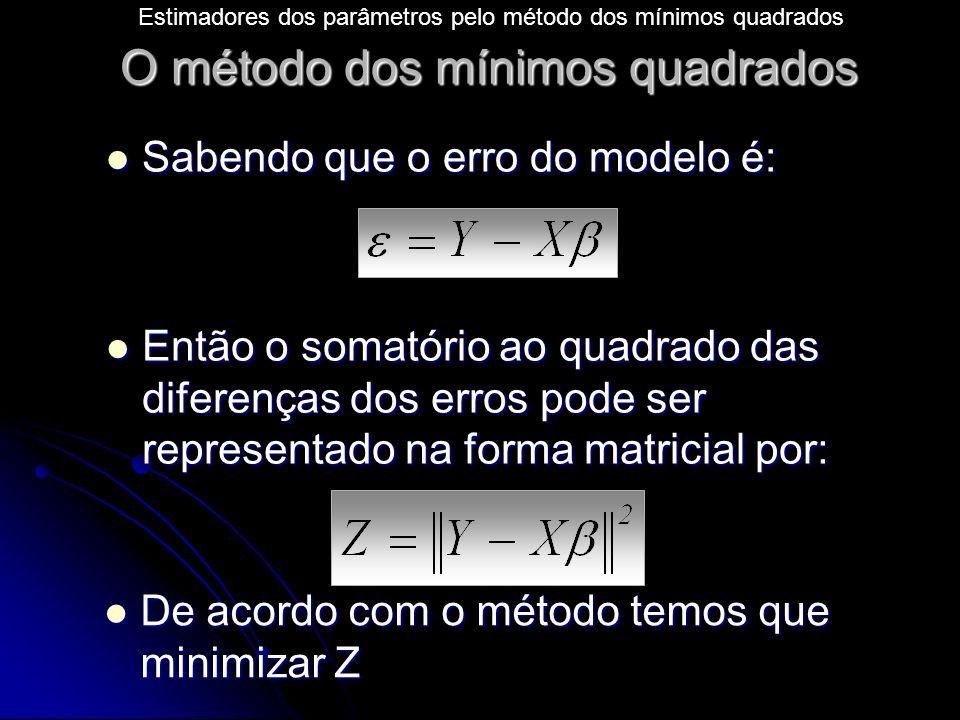 O método dos mínimos quadrados