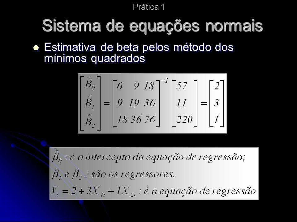 Sistema de equações normais