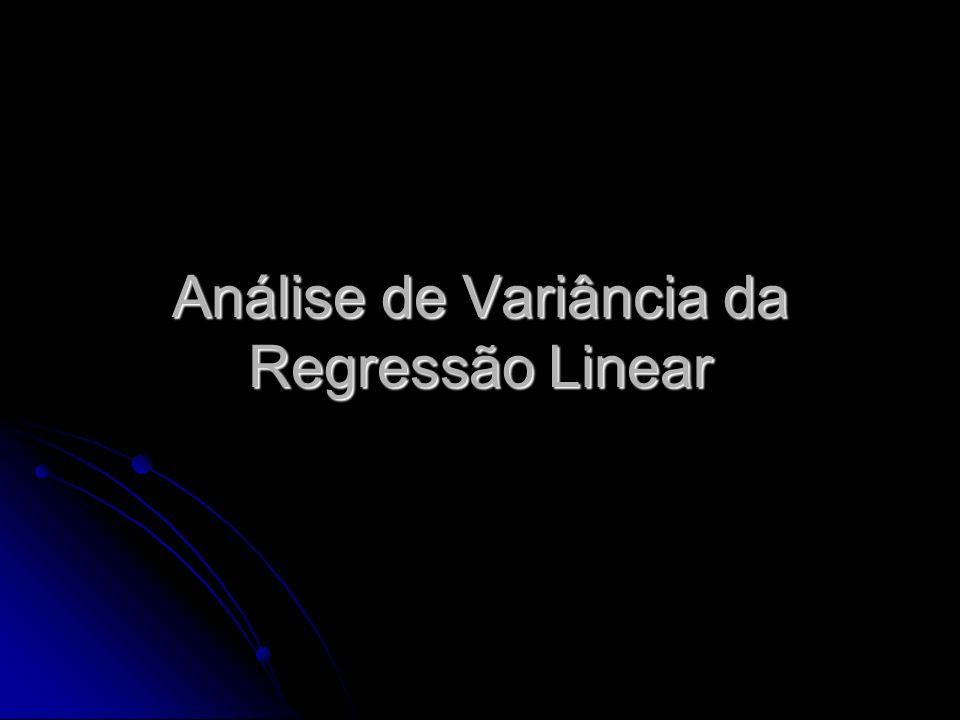 Análise de Variância da Regressão Linear