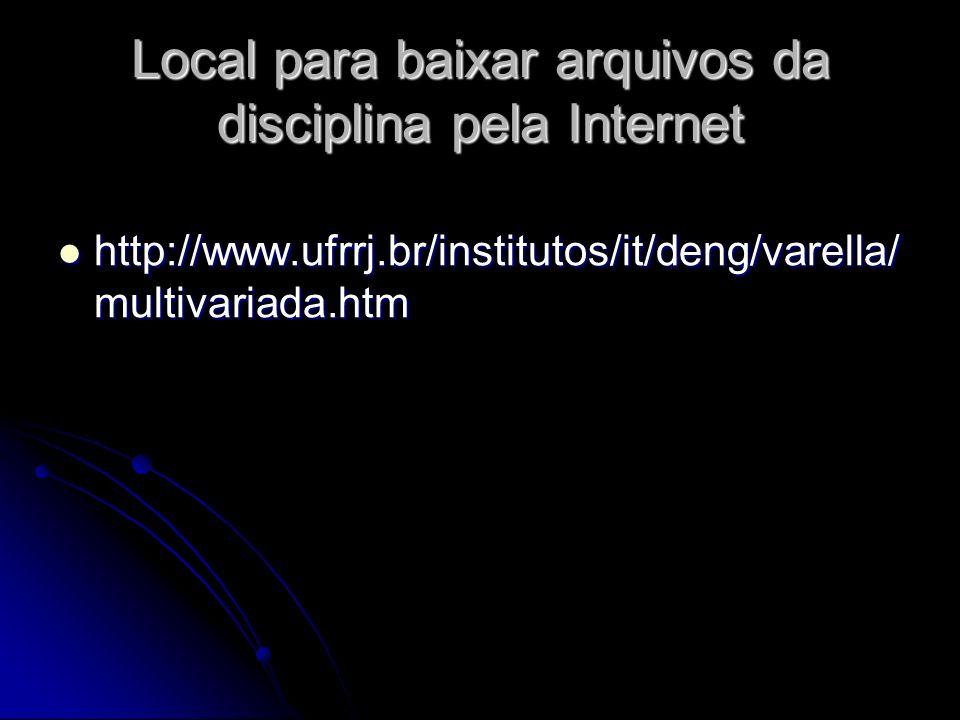 Local para baixar arquivos da disciplina pela Internet