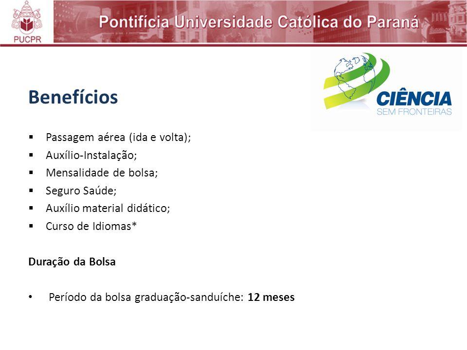 Benefícios Passagem aérea (ida e volta); Auxílio-Instalação;