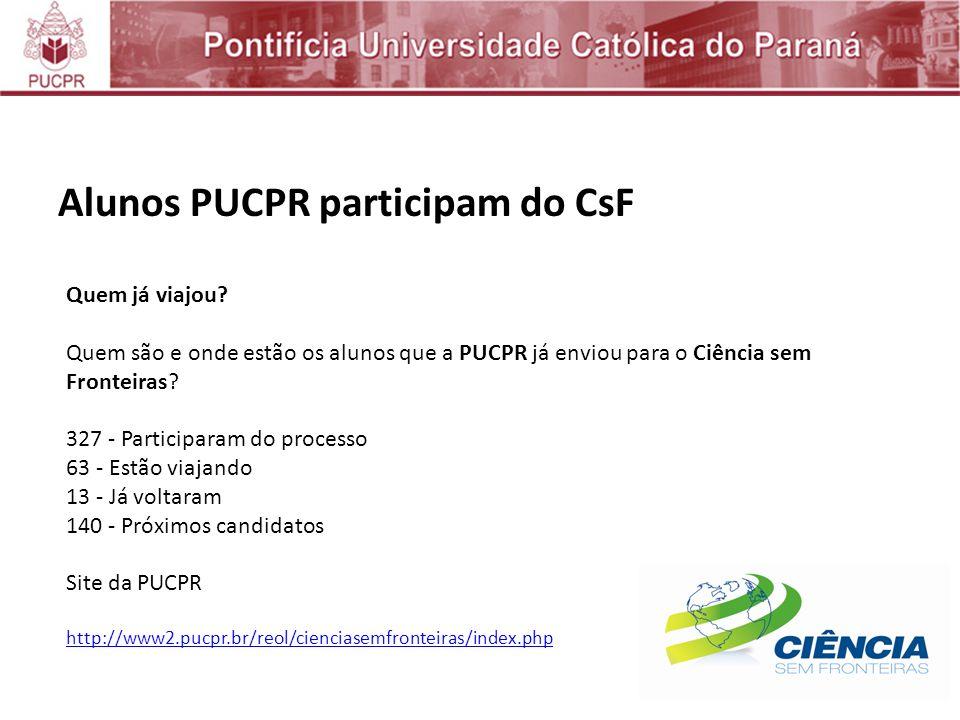 Alunos PUCPR participam do CsF