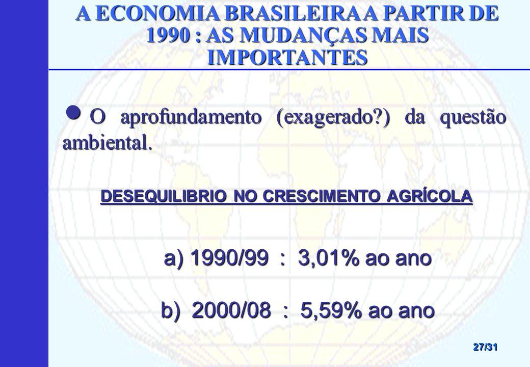 A ECONOMIA BRASILEIRA A PARTIR DE 1990 : AS MUDANÇAS MAIS IMPORTANTES