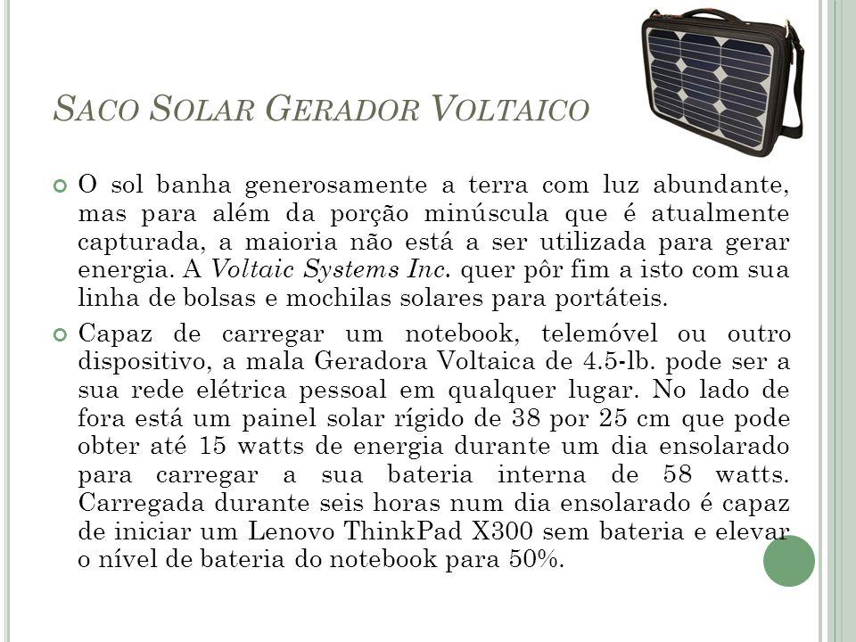 Saco Solar Gerador Voltaico