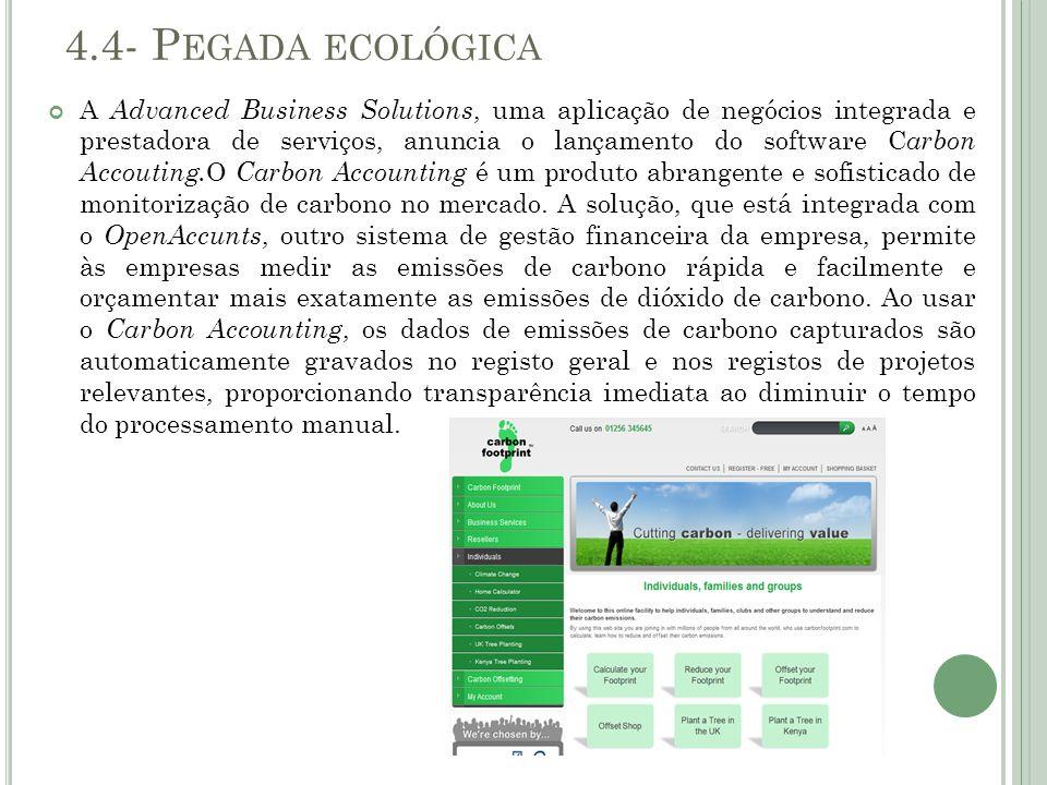 4.4- Pegada ecológica