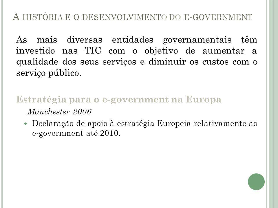 A história e o desenvolvimento do e-government