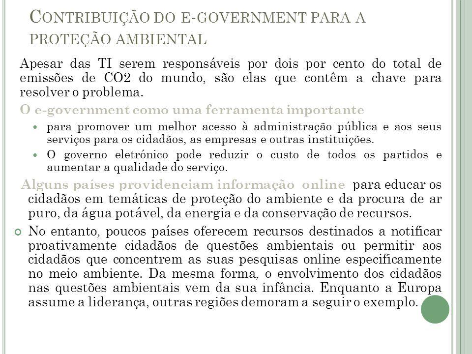 Contribuição do e-government para a proteção ambiental