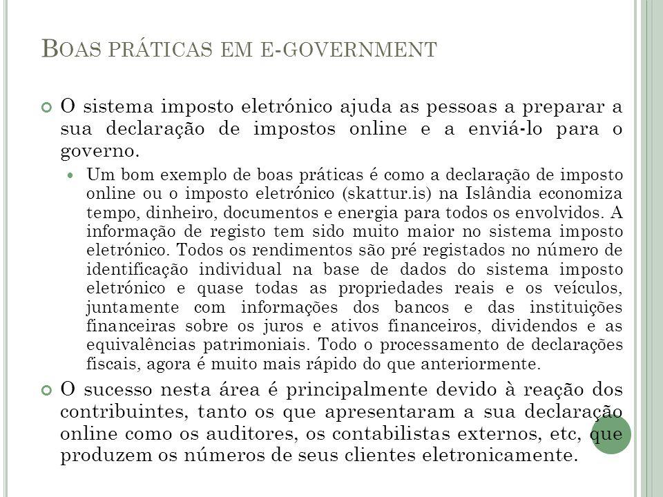 Boas práticas em e-government