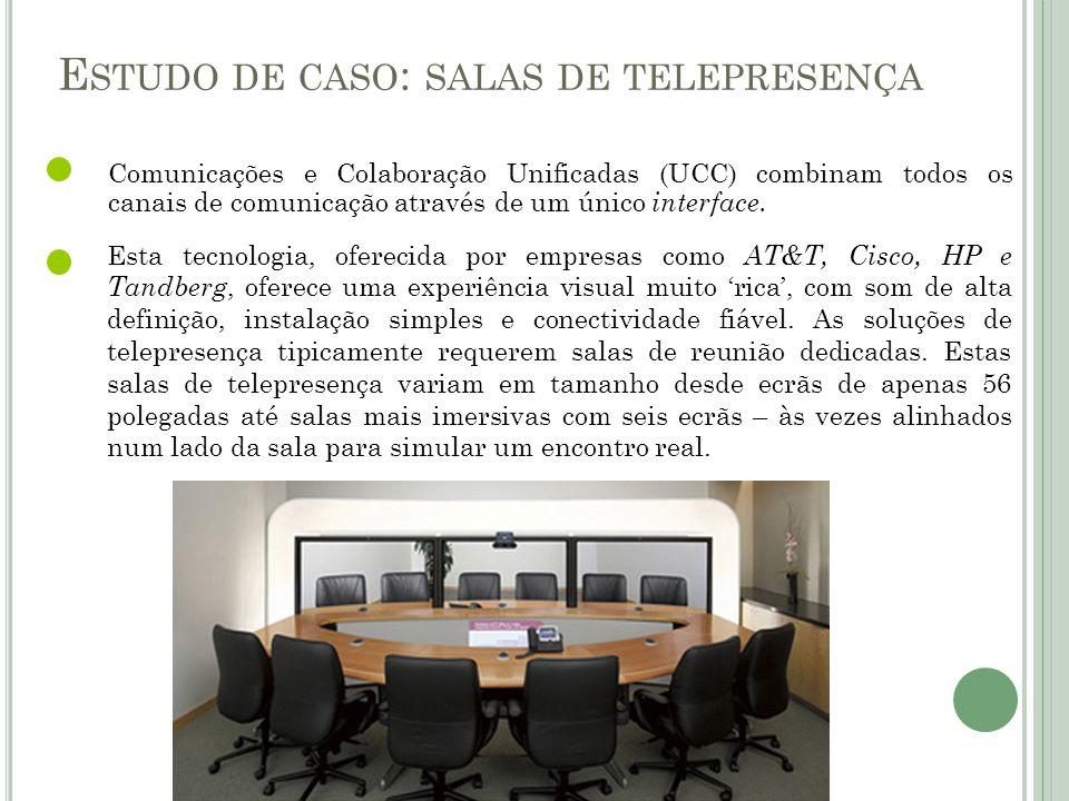 Estudo de caso: salas de telepresença