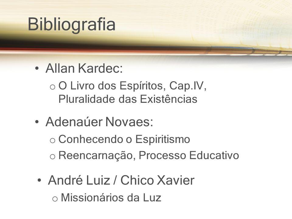 Bibliografia Allan Kardec: Adenaúer Novaes: André Luiz / Chico Xavier
