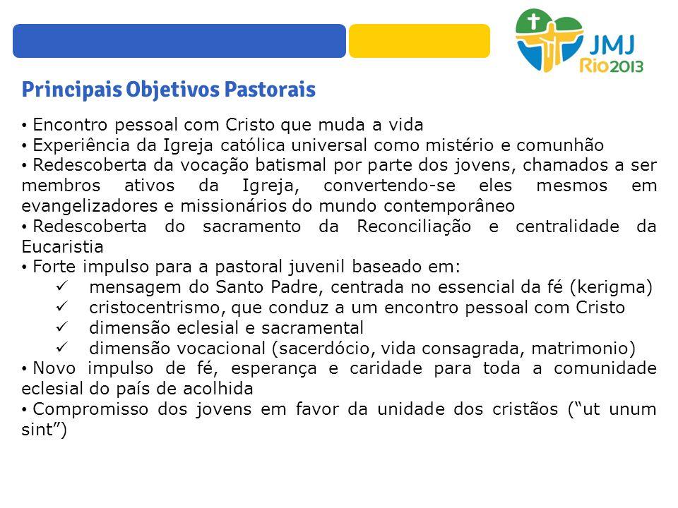 Principais Objetivos Pastorais