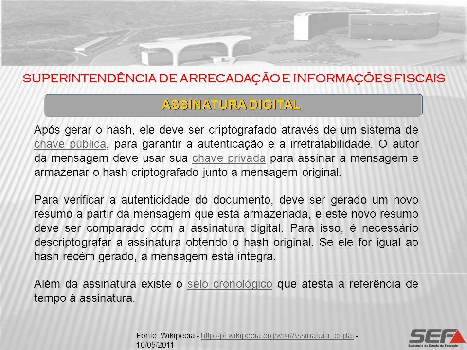 SUPERINTENDÊNCIA DE ARRECADAÇÃO E INFORMAÇÕES FISCAIS