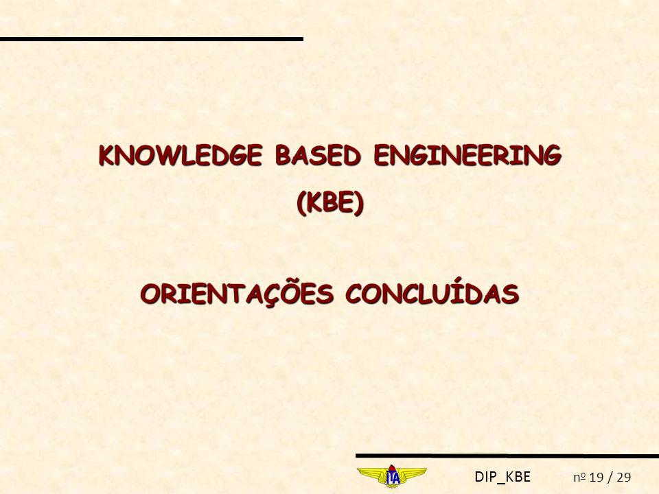 KNOWLEDGE BASED ENGINEERING ORIENTAÇÕES CONCLUÍDAS