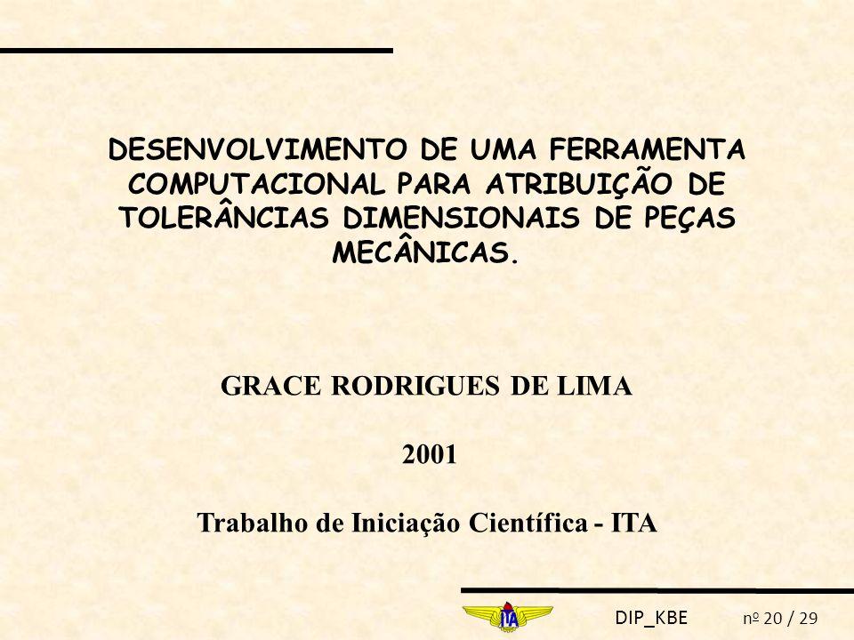 GRACE RODRIGUES DE LIMA Trabalho de Iniciação Científica - ITA