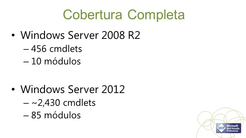Cobertura Completa Windows Server 2008 R2 Windows Server 2012