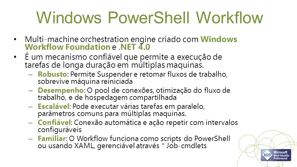 Windows PowerShell Workflow