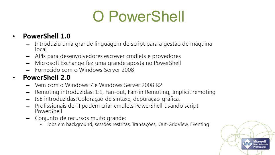 O PowerShell PowerShell 1.0 PowerShell 2.0