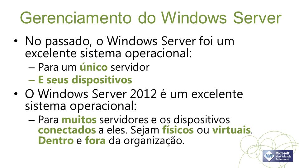 Gerenciamento do Windows Server