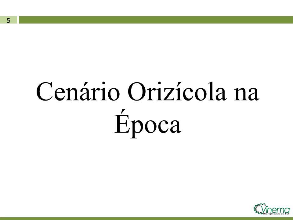 Cenário Orizícola na Época
