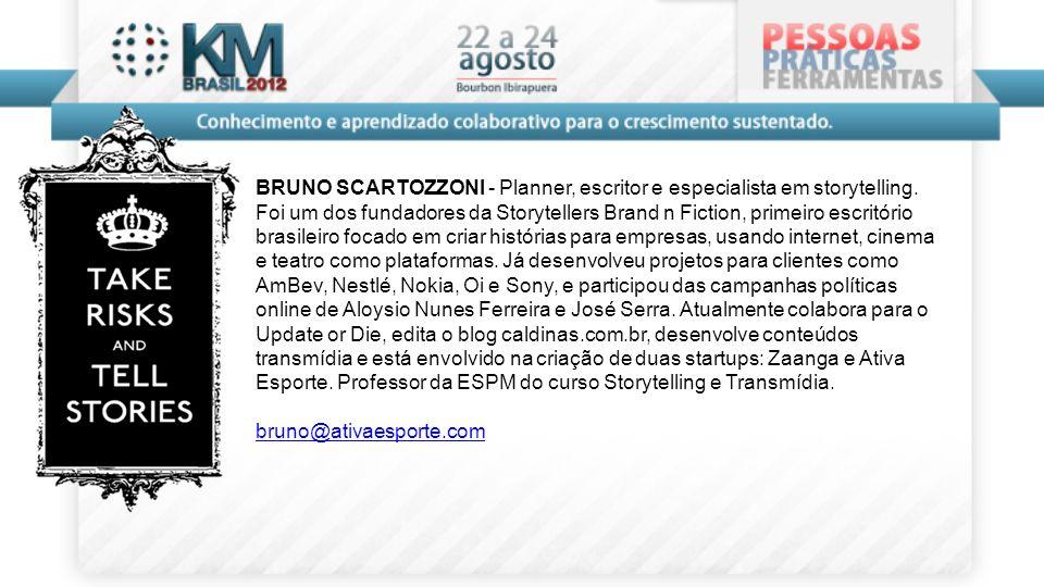 BRUNO SCARTOZZONI - Planner, escritor e especialista em storytelling
