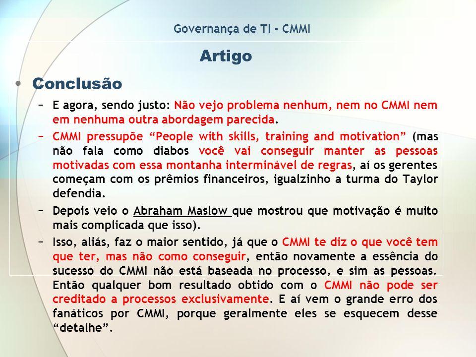 Artigo Conclusão Governança de TI - CMMI