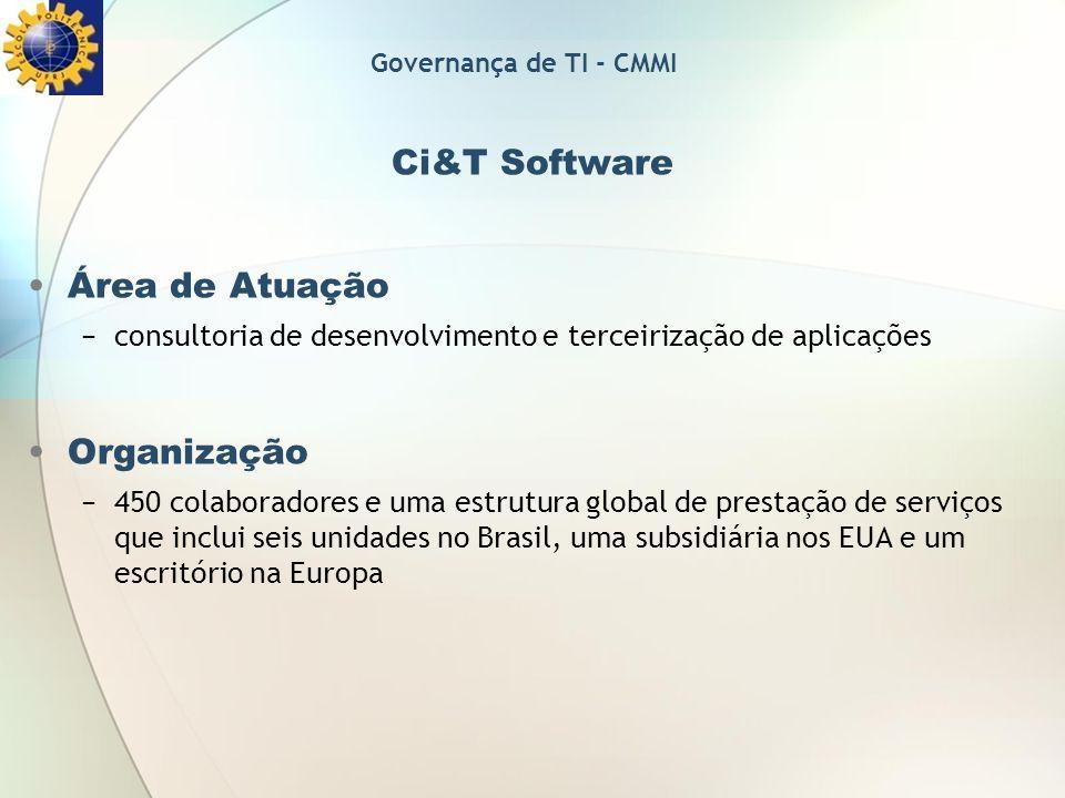 Ci&T Software Área de Atuação Organização