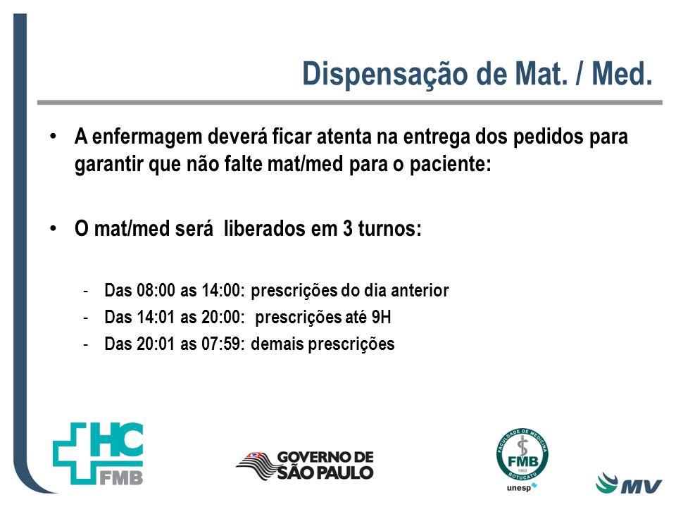 Dispensação de Mat. / Med.