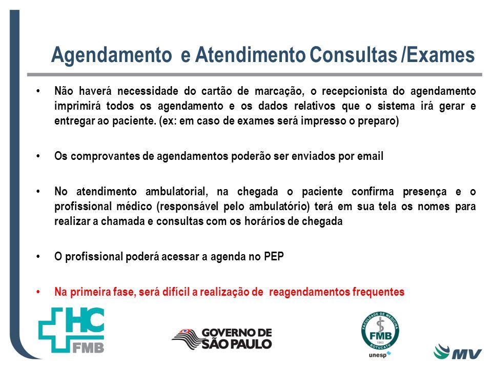 Agendamento e Atendimento Consultas /Exames
