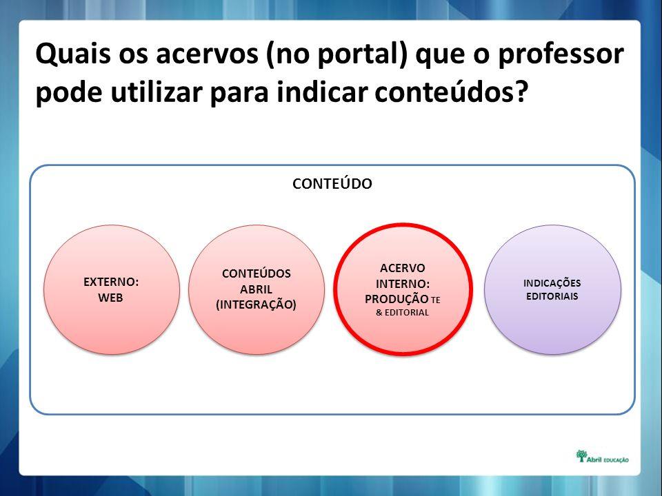 Quais os acervos (no portal) que o professor