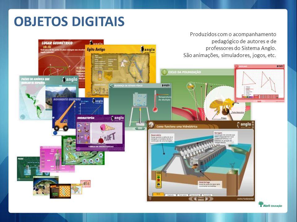 OBJETOS DIGITAIS Produzidos com o acompanhamento pedagógico de autores e de professores do Sistema Anglo.
