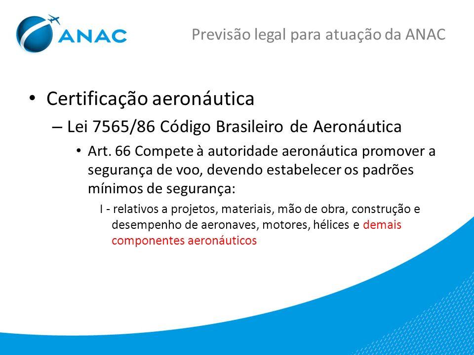Previsão legal para atuação da ANAC