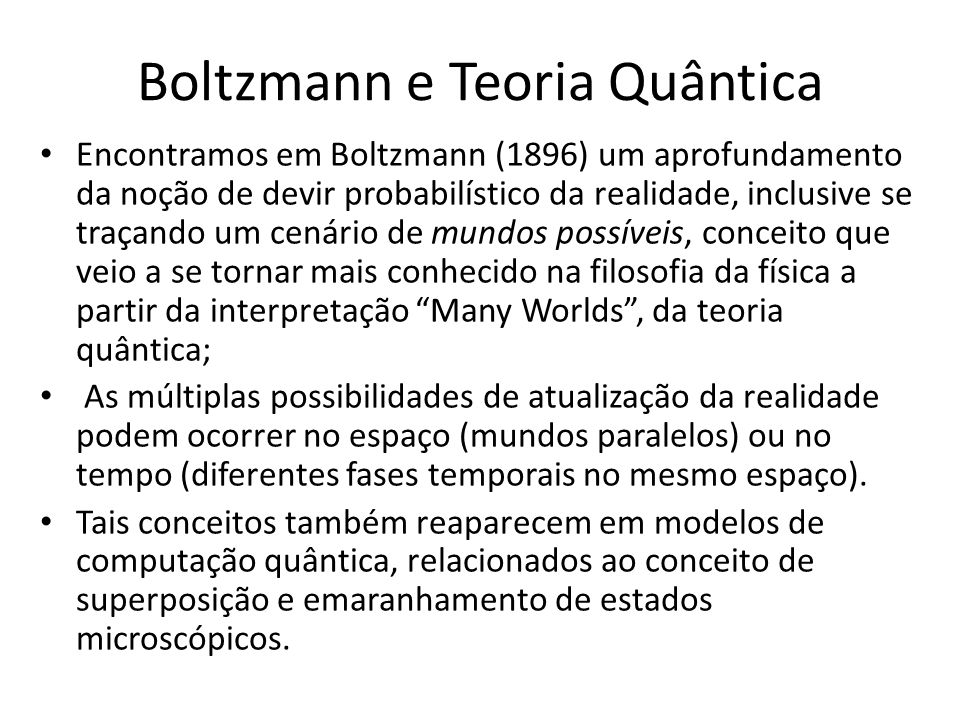 Boltzmann e Teoria Quântica