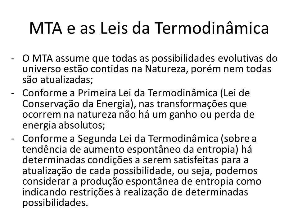 MTA e as Leis da Termodinâmica