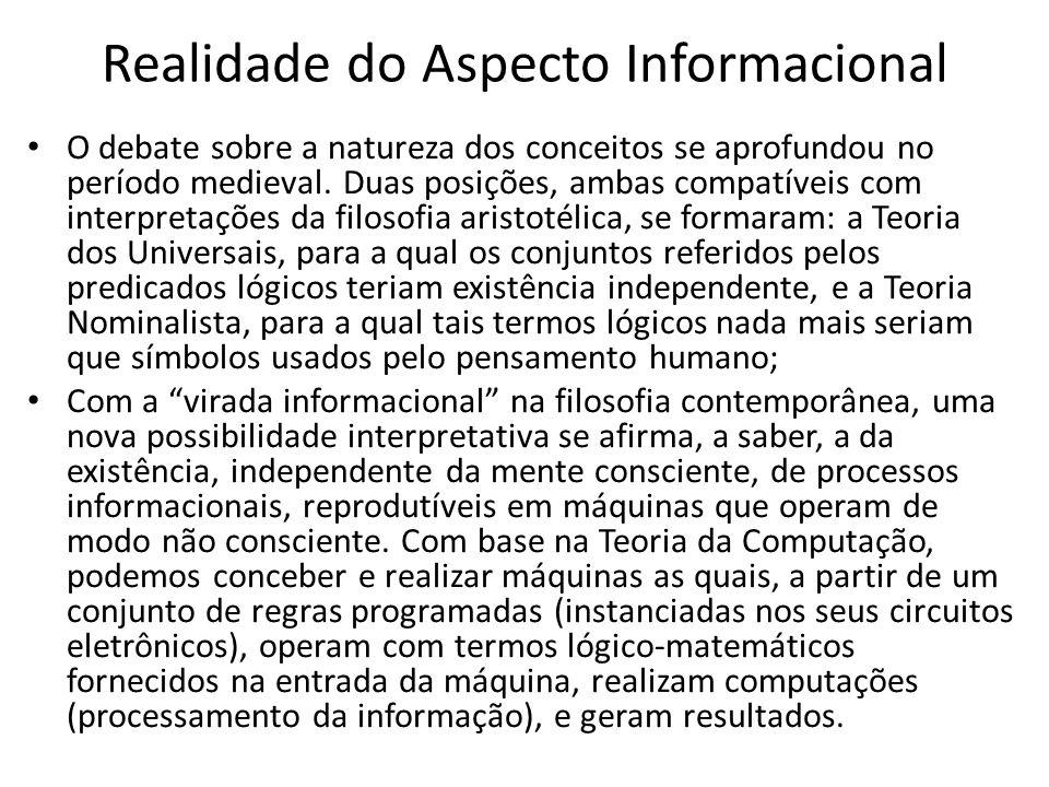 Realidade do Aspecto Informacional