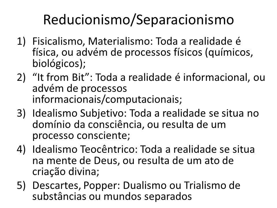 Reducionismo/Separacionismo
