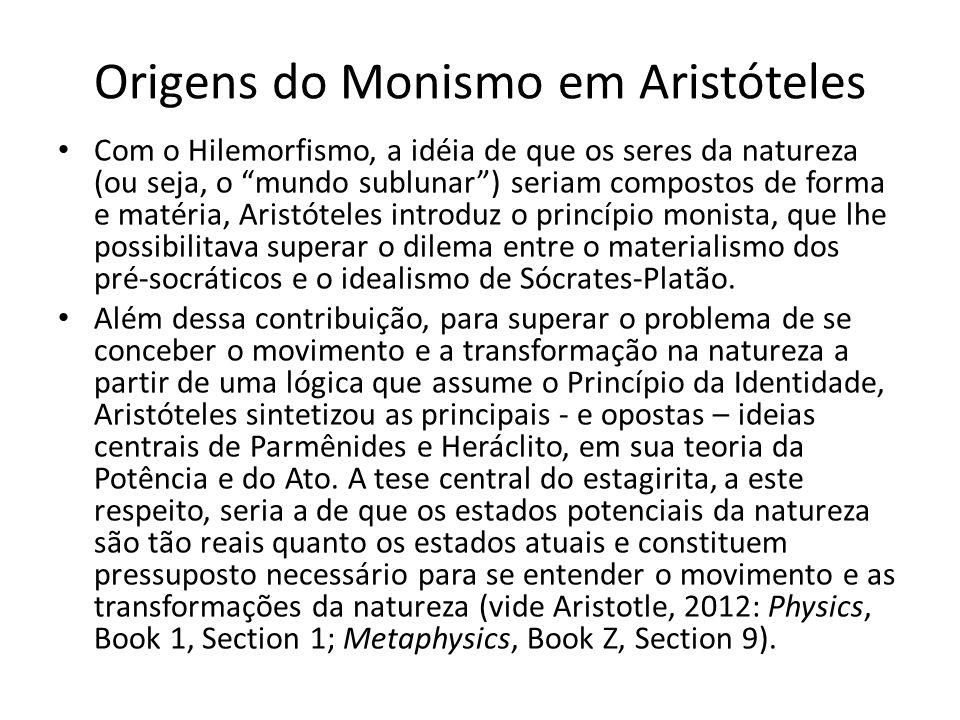 Origens do Monismo em Aristóteles