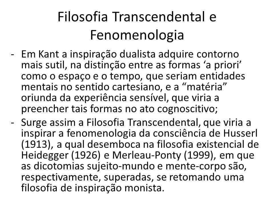 Filosofia Transcendental e Fenomenologia