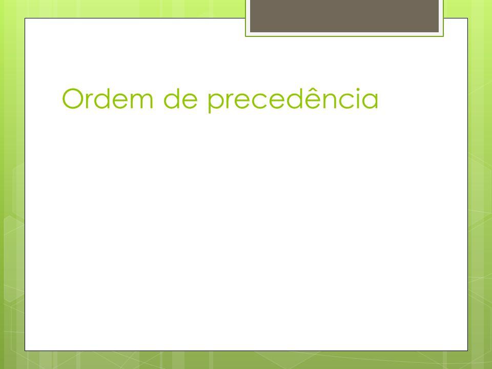 Ordem de precedência p  q  r p ∨ ~q  q ∧ r (p  (q  r))