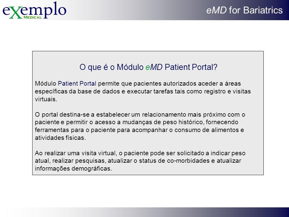 O que é o Módulo eMD Patient Portal