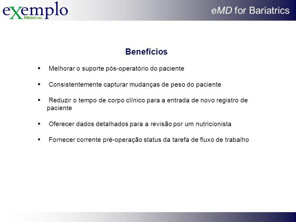 Benefícios Melhorar o suporte pós-operatório do paciente