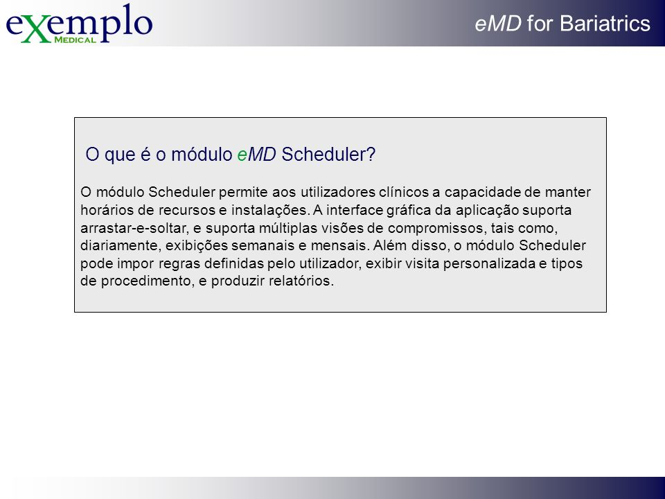 O que é o módulo eMD Scheduler