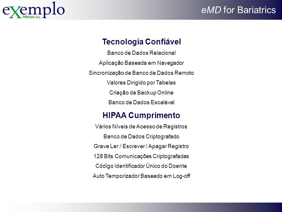 Tecnologia Confiável HIPAA Cumprimento
