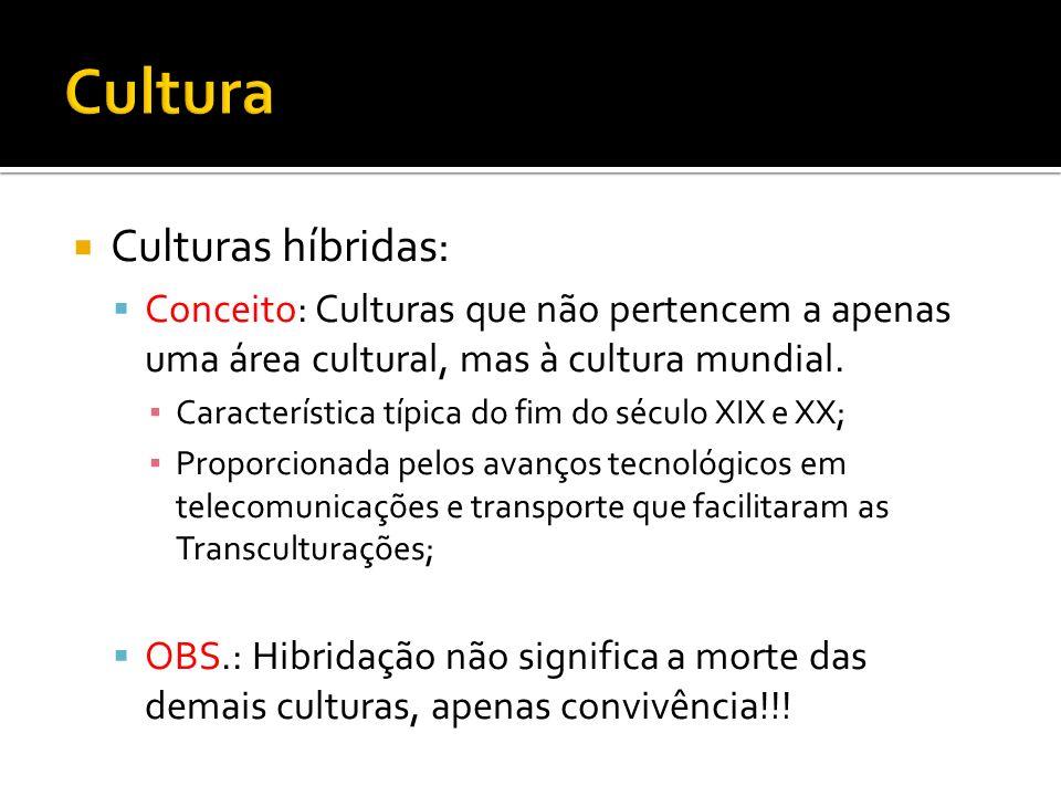 Cultura Culturas híbridas: