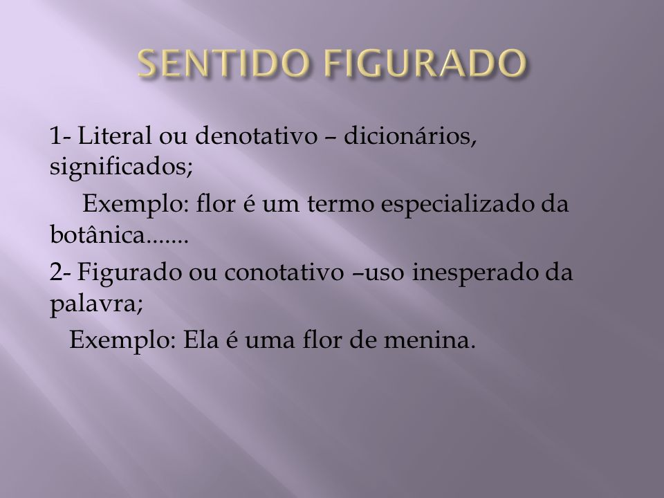 SENTIDO FIGURADO