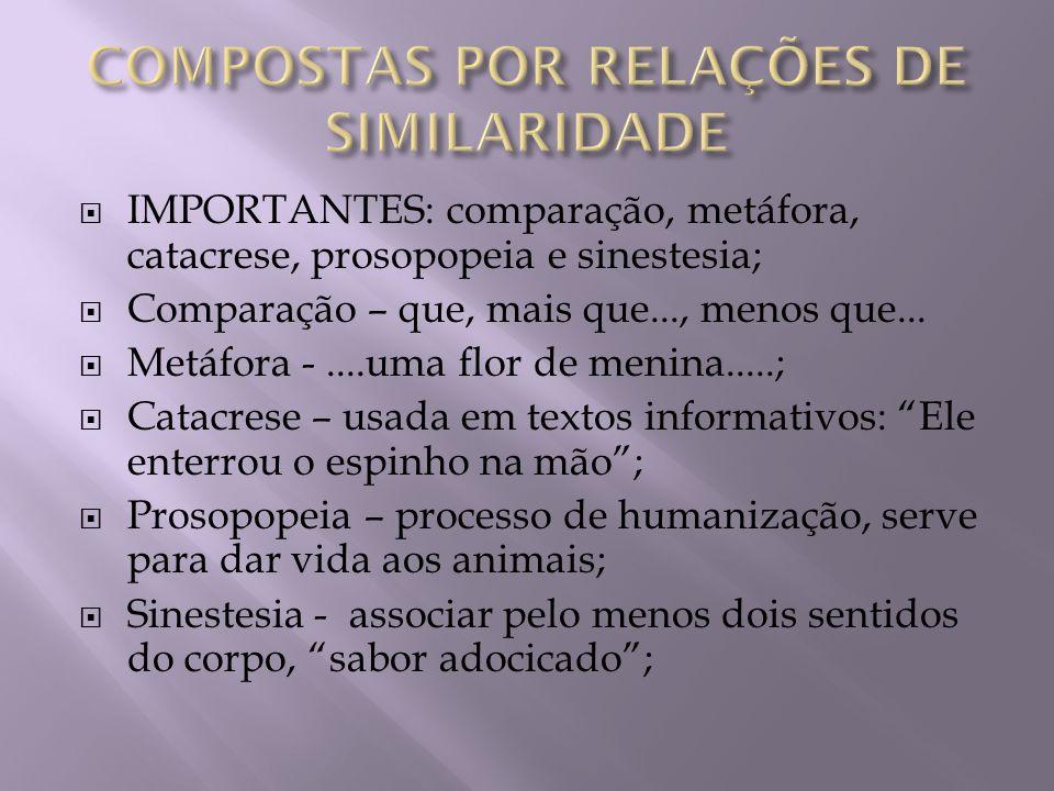 COMPOSTAS POR RELAÇÕES DE SIMILARIDADE